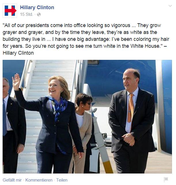 Hillary Clinton bei Facebook