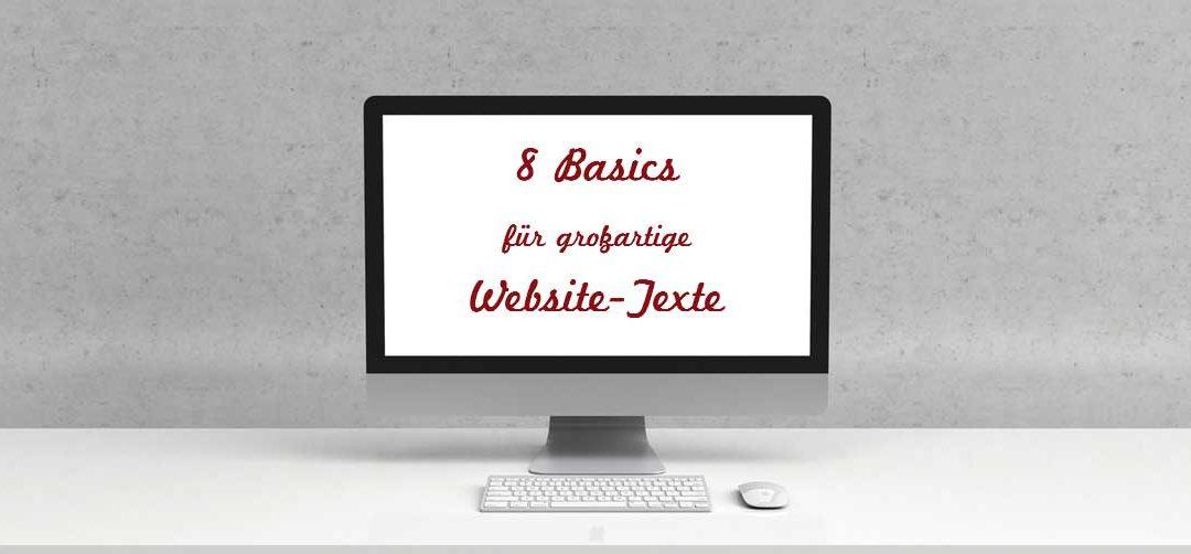 8 Basics für großartige Website-Texte