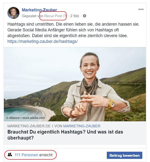 Screenshot Facebook-Post